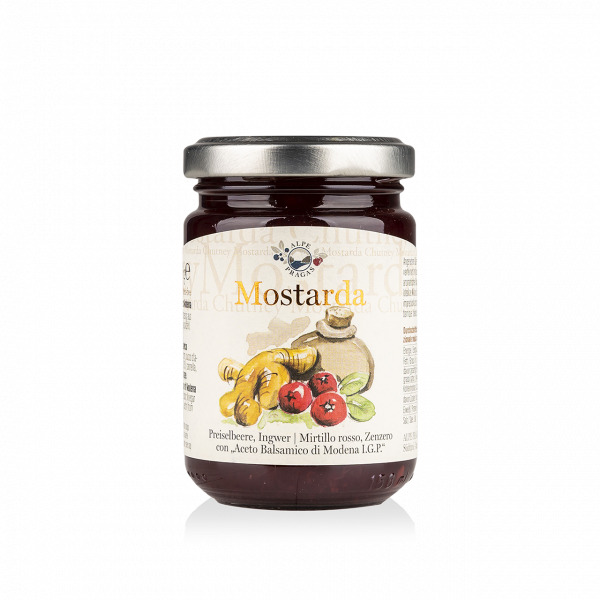 Chutney Lingonberry, Ginger with Balsamic Vinegar of Modena 160g