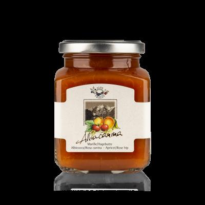 Albacanina fruit preserve Apricot & Rose hip 335g